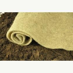 Mulchmatte aus Schafschurwolle