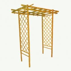 Bambus-Pergola